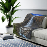"""Pray Without Ceasing"" Velveteen Plush Blanket"