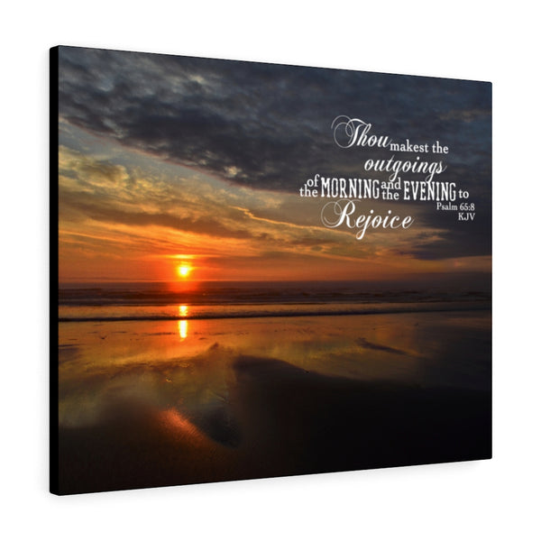 West Coast Sunset Canvas Gallery Wrap