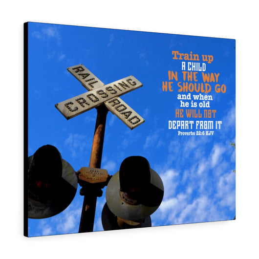 Railroad Crossing Canvas Gallery Wrap