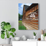 Grand Tetons Barn Canvas Gallery Wraps