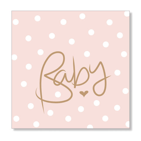 Polkadot Pink mini card