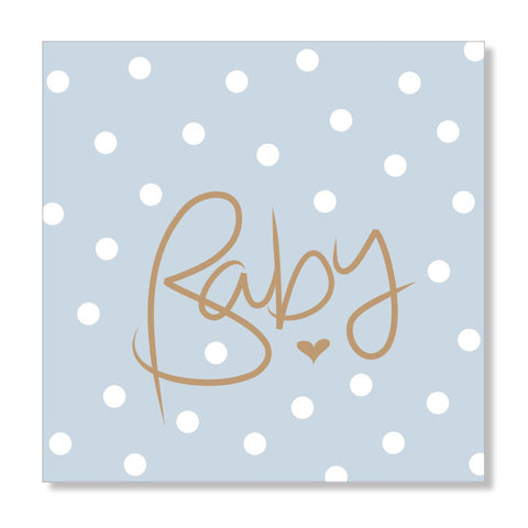 Polkadot blue mini card