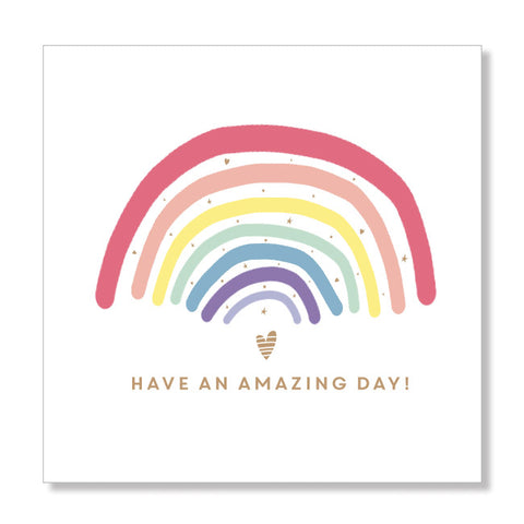 Happy Rainbow mini card