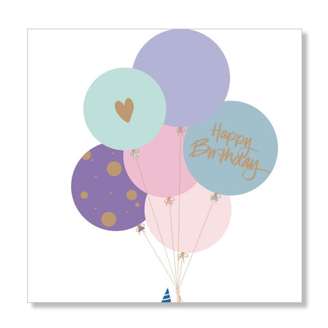 Bright Balloons mini card