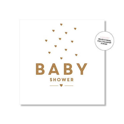 Baby shower mini card