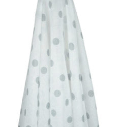 White with Grey spot muslin