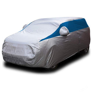 Titan Lightweight Poly 210T Car Cover. Fits Compact SUV up to 187 Inches. Waterproof, Reflective UV Defense with Scratch Resistant Lining. Bondi Blue Styling. Fits RAV4, Honda CR-V, Nissan Rogue, Ford Escape, Chevy Equinox, Jeep Cherokee.