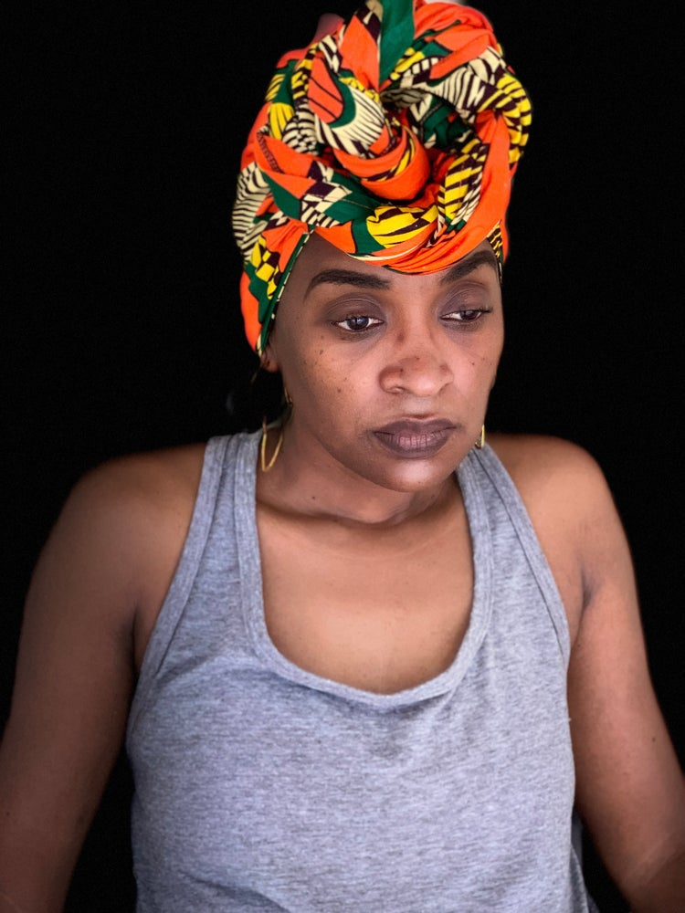 Orange Yellow & Green Headwrap
