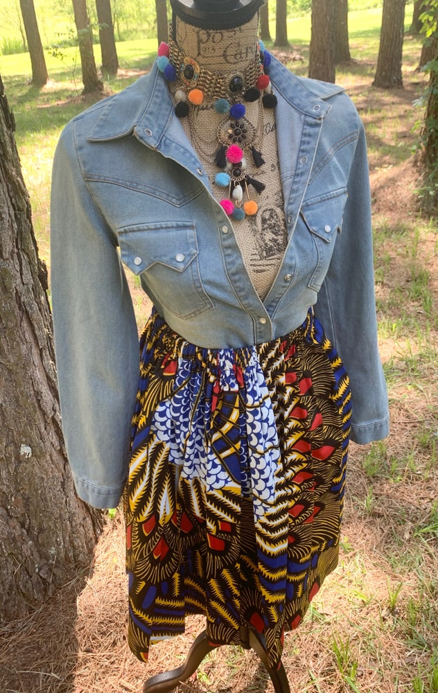 Fly High Eagle Ankara skirt