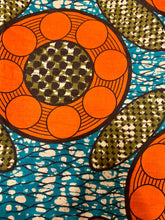 Load image into Gallery viewer, Orange & Turquoise Headwrap