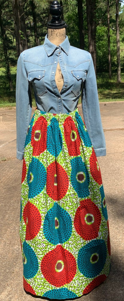 Green & Red Circles MiREE skirt
