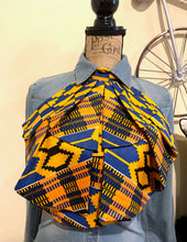 Load image into Gallery viewer, Blue Kente MiREE Neckpiece