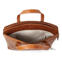 Load image into Gallery viewer, Classico Collection Leather 3-Section Brief