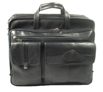 Santa Fe Leather Deluxe Expandable Laptop Brief
