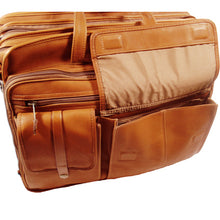 Load image into Gallery viewer, Santa Fe Leather Deluxe Expandable Laptop Brief