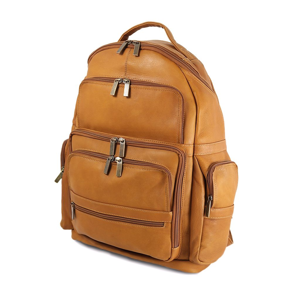 DayTrekr Leather Laptop Organizer Backpack