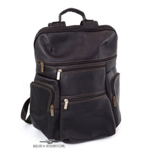 Load image into Gallery viewer, DayTrekr Leather Tapered Laptop Backpack