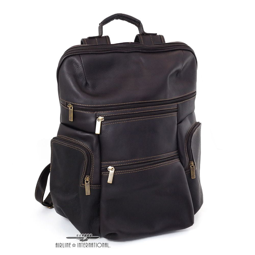 DayTrekr Leather Tapered Laptop Backpack