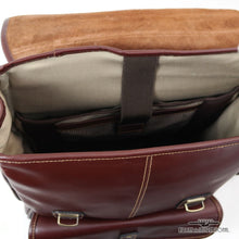 Load image into Gallery viewer, Chester Square Leather Flap Backpack