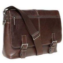 Load image into Gallery viewer, Boconi Tyler Tumbled Leather Expandable Messenger Bag