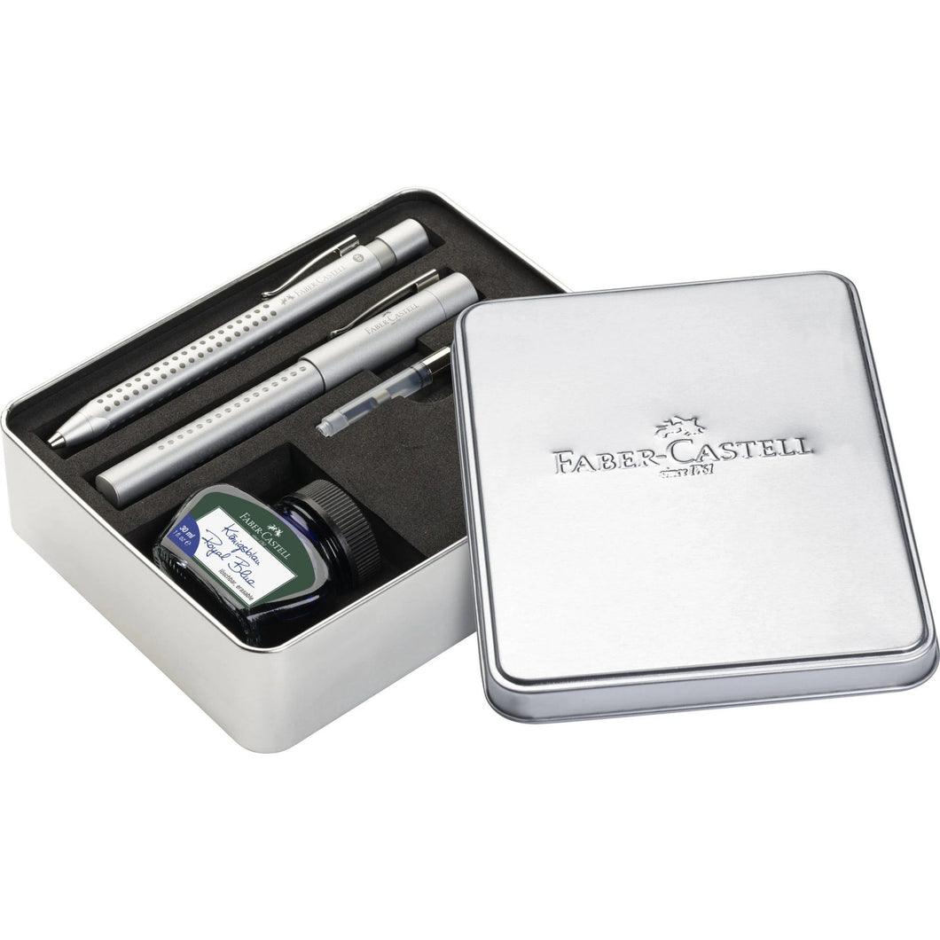 Faber-Castell Grip 2011 Gift Set in Silver