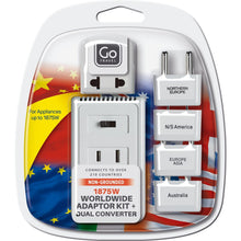 Load image into Gallery viewer, GO Travel Worldwide Adaptor Kit + Converter