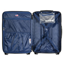 "Load image into Gallery viewer, Olympia Nema 30"" Expandable 2-Tone Polycarbonate Spinner Suitcase"