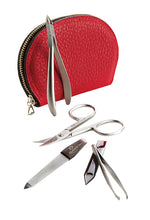 Load image into Gallery viewer, GERMAN MANICURE SET - 5-PIECE LEATHER ZIPPERED MANICURE SET