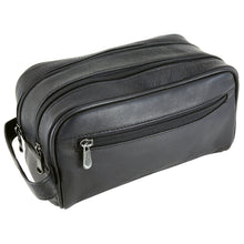 Load image into Gallery viewer, DayTrekr Leather Double Zip Travel Kit