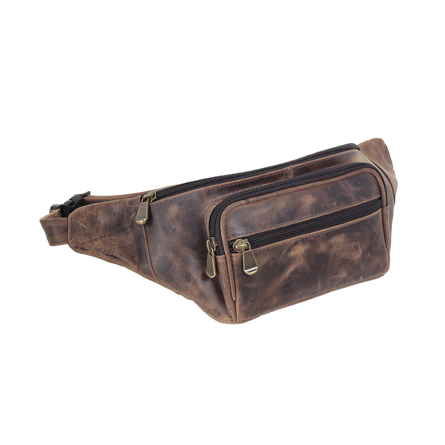 DAYTREKR DISTRESSED LEATHER COMPACT WAIST PACK