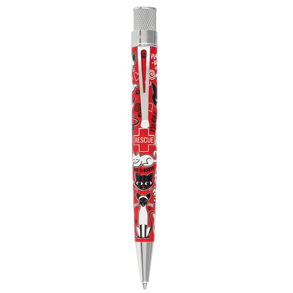 Retro 51 Cat Rescue Ballpoint Pen