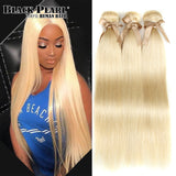 Honey Blonde Bundles Brazilian Straight Hair Weave 100% Remy Human Hair  Extensions 613 Bundles