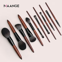 MAANGE 10/12/15Pcs Wooden Brushes Set