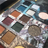Color Game Eyeshadow Palette Gradient Green Makeup Pallete Shimmer Matte Glitter Pigment EyeShadow Pallete Waterproof