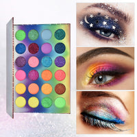 Colors Fluorescent Neon Glow in the Dark Eyeshadow Palette
