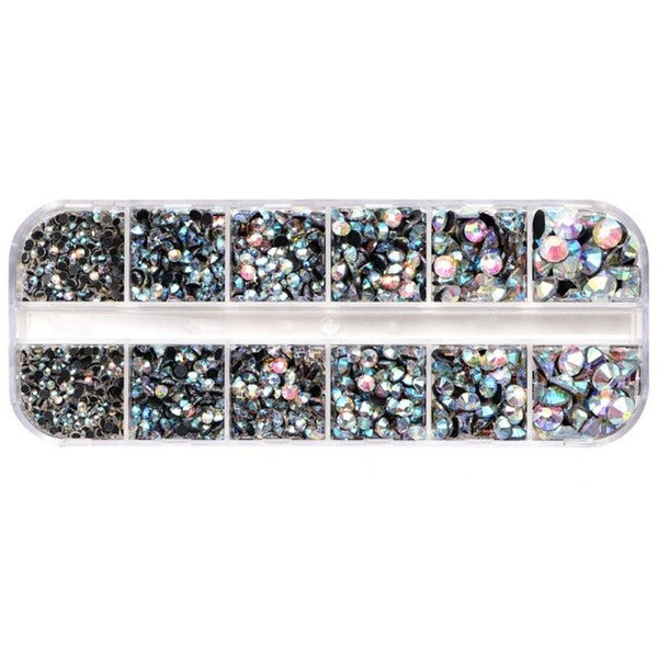 Rhinestones Crystal Clear AB Non Hotfix Flatback Nail Rhinestones For Clothes Nails DIY 3D Nail Art Decoration