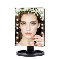 Adjustable 16/22 Led Mirror Touch Table Mirror with Light Free Gifts