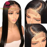 4x4 Straight Lace Closure Wig Human Hair Wigs For Black Women Straight Lace Wigs Peruvian Human Hair Wig With Baby Hair Glueless