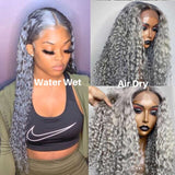 Loose Deep Transparent Lace T Part Lace Front Wig Curly