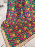 Royal Blue Phulkari Heavy Veer Zara Dupatta