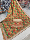 Golden Veer Zaara Phulkari Party Wear Suit