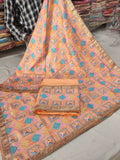 Peach Veer Zaara Phulkari Party Wear Suit