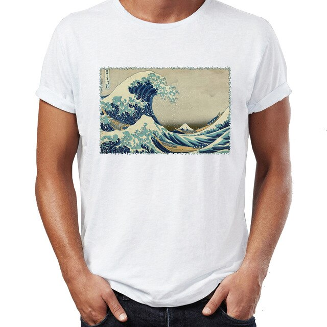 Japanese waves t shirt