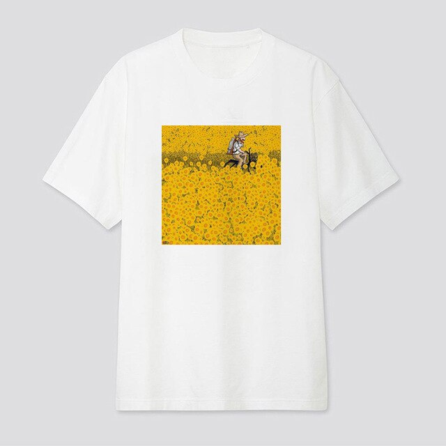 Woman sunflower T shirt