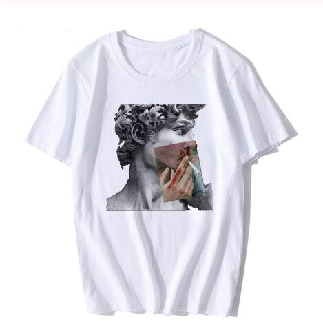 Michelangelo Smokes T Shirt
