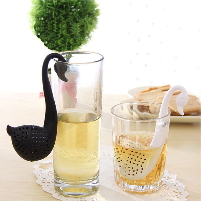 1pc Creative Tea Infuser Swan Loose Tea Strainer