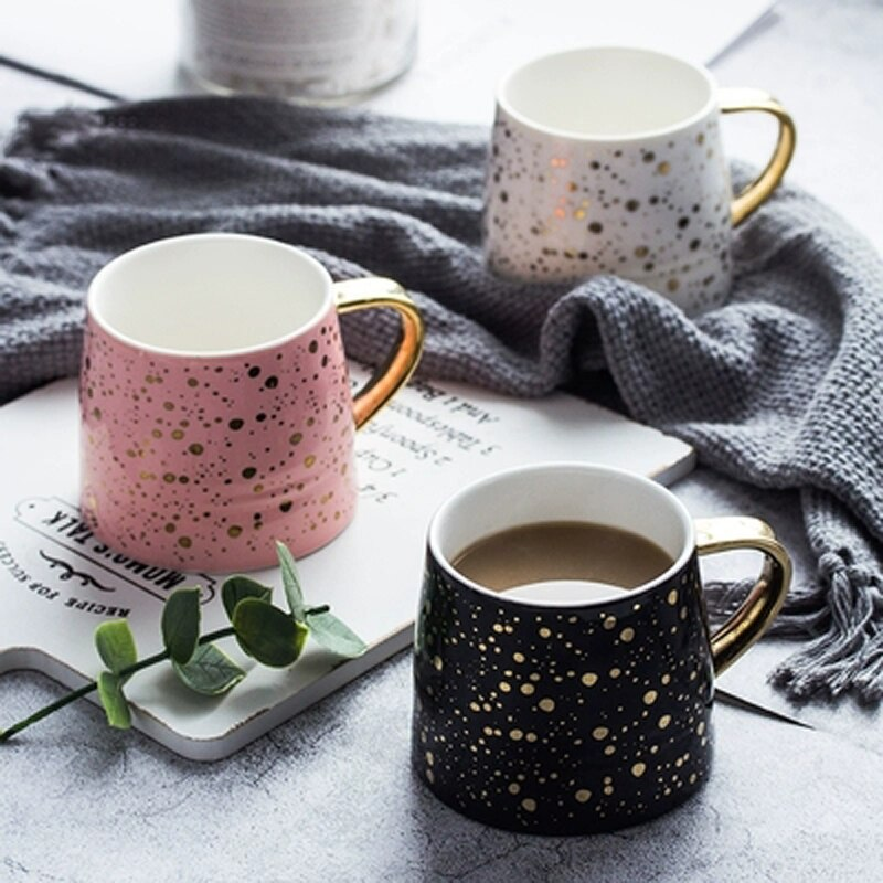 Gold Dotted Coffee Mug