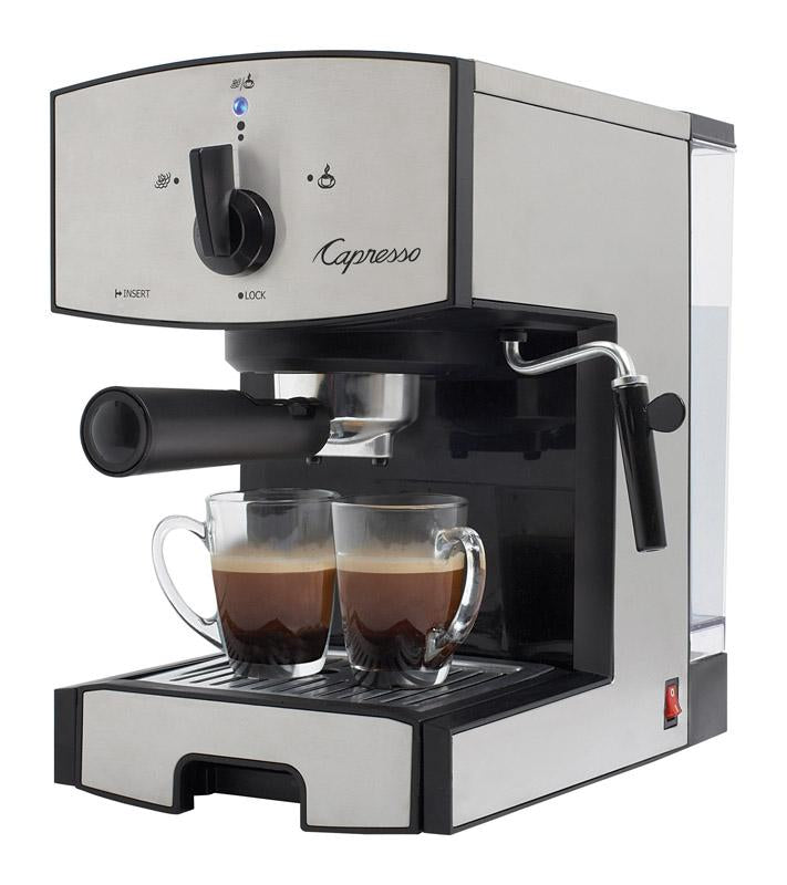 Capresso  42 oz. Black/Silver  Coffee & Espresso Maker