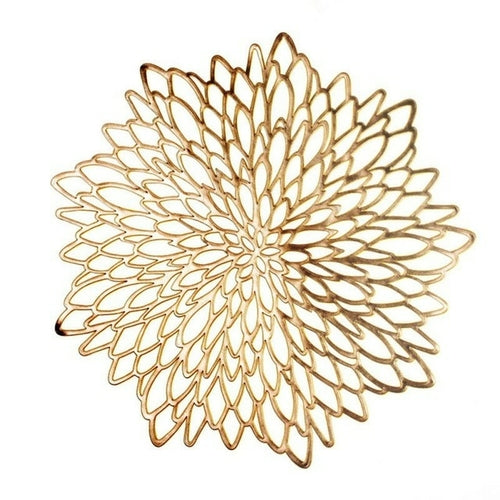 Gold Flower Placemat