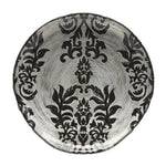 DAMASK Black Velvet Gilded Glass Canapé Plates